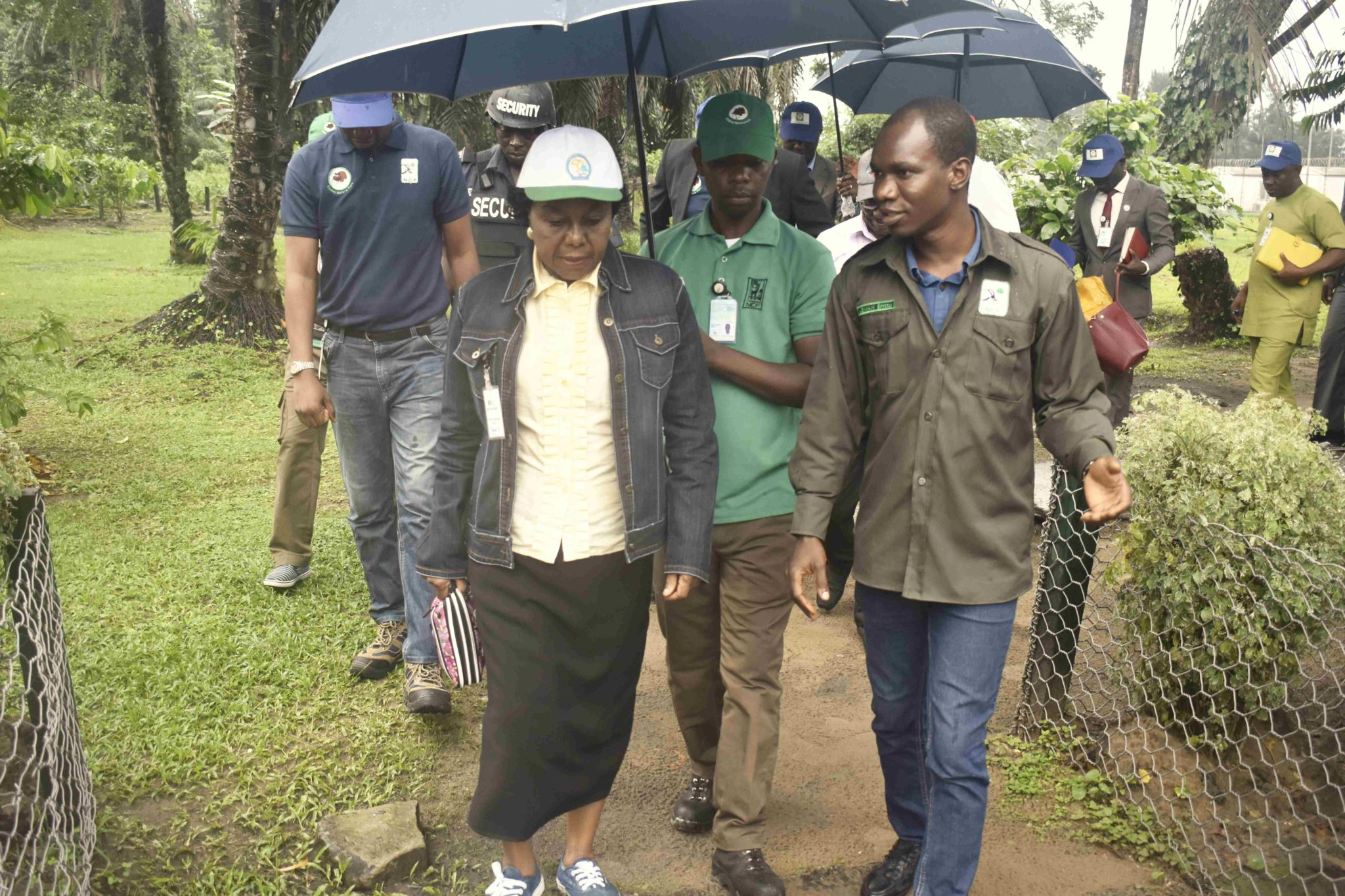 Prof Roseline konya, along with Mr. Shittu Usman Field supervisor Finima nature Park Bonny
